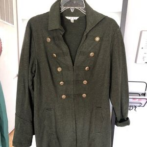 Cabo green military style jacket